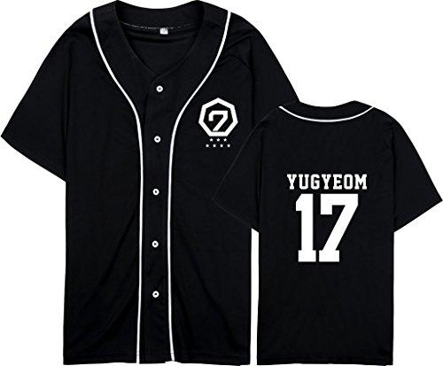 babyhealthy GOT7 Fly in Seoul Same T-Shirt Mark Jackson JB JR Yugyeom Hip-hop Shirt XXL Yugyeom Black