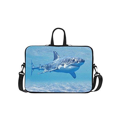 InterestPrint Ocean Sea Shark Laptop Sleeve Case Bag, Underwater World Shark Shoulder Strap Laptop Sleeve Notebook Computer Bag 13.3 Inch for MacBook Pro Air HP Dell