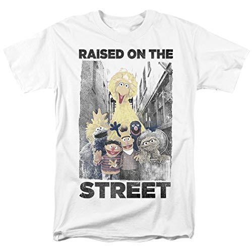 Sesame Street Big Bird Oscar Bert Ernie Grover T Shirt & Stickers (Medium) White