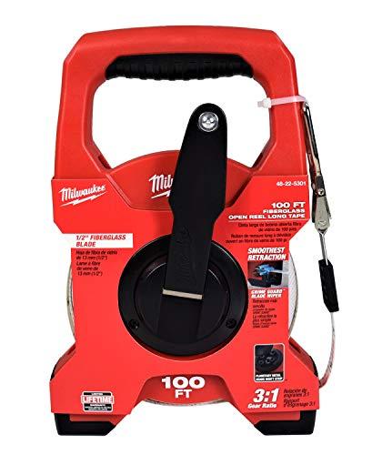 Milwaukee 48-22-5301 100FT Fiberglass Open Reel Long Tape