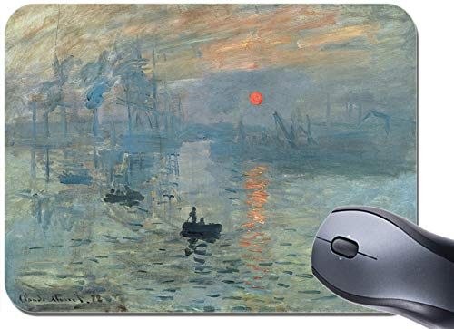 Mouse pad raffigurante l'Alba di Claude Monet, Impressionismo Tappetino per mouse con stampa artistica di alta qualità