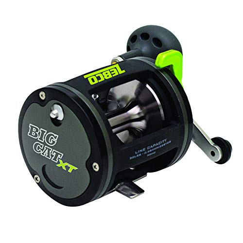 Zebco Big Cat Conventional Fishing Reel, 2 Bearings, Instant Anti-Reverse with Smooth, Precisely-Aligned Gears, Size 100, Multicolor (BCXT30C,BX3)