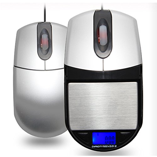 500g / 0.1g USB Computer Optical Mouse with Hidden Digital Pocket Scale Accurate Jewelry Stash Scale 0.1gram Compartment