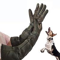 Gants de manipulation d'animaux imperméables, gants de protection en cuir anti-rayures / morsures à manches longues pour animaux de compagnie,baignade,alimentation,gants d'entraînement pour chien chat