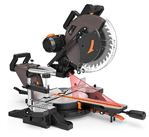 TACKLIFE Sliding Compound Miter Saw 12-Inch, 15-Amp, 3800rpm, Double-Bevel...