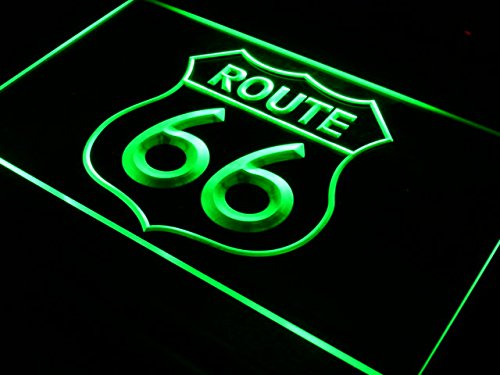 ADV PRO Enseigne Lumineuse i371-g Historic Route 66 Mother Road Neon Light Sign NR
