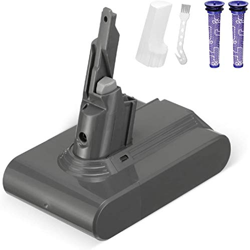 Powerextra Batería 4000mAh 21.6V Batería de Repuesto para V7 Animal Cordless Stick Vacuum V7 Motorhead Pro V7 Gatillo V7 Animal V7 con 2 Filtros y 1 Cepillo
