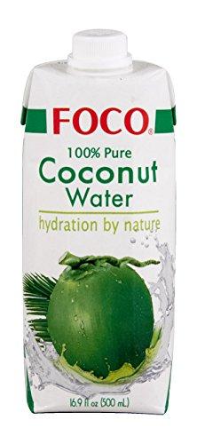 Foco Agua De Coco Foco, Bebida Exótica De Moda, Refrescante Que Calma La Sed, Bebida Deportiva, Baja En Calorías, 100 % Vegana 510 g