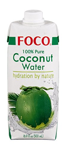 FOCO Bebida Agua de Coco 100% Natural 500ml