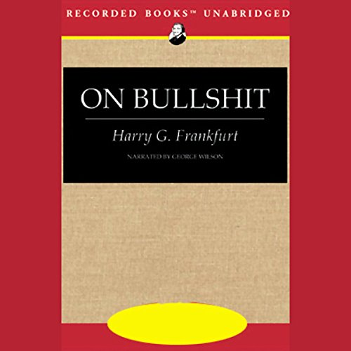 On Bullshit audiobook cover art