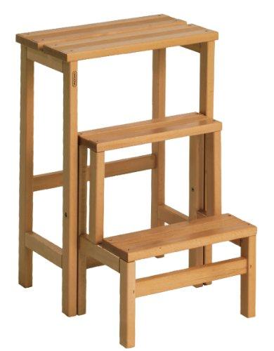 Valdomo 156/12Sgabellone Suegiù escalera de madera de haya, nogal, madera de nogal