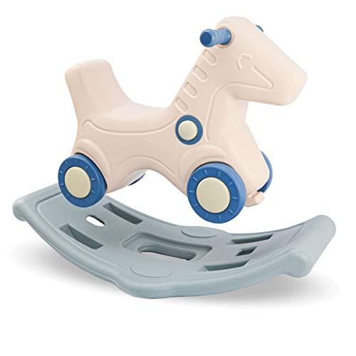 LittleTom 2-en-1 Caballo Balancín y Vehículo para Niños Desde 1 Año - Animal Balancín para Bebés