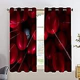 It Chapter - Juego de cortinas opacas para ventana, 2 paneles de tratamiento de ventana, 42 x 54 cm