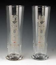 Beck's 0.4 Liter Signature Beer Glass | Set of 2 Glasses