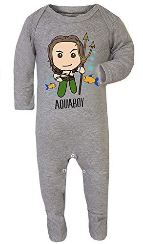Kleur Mode Superhero Aquaman Print Kostuum pyjama Footies 100% Katoen Hypoallergeen
