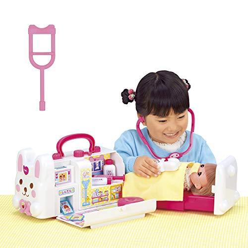 【Amazon.co.jp 限定】メルちゃん おせわパーツ おしゃべりいっぱい うさぎさんきゅうきゅうしゃ(ピンクのまつばづえセット)