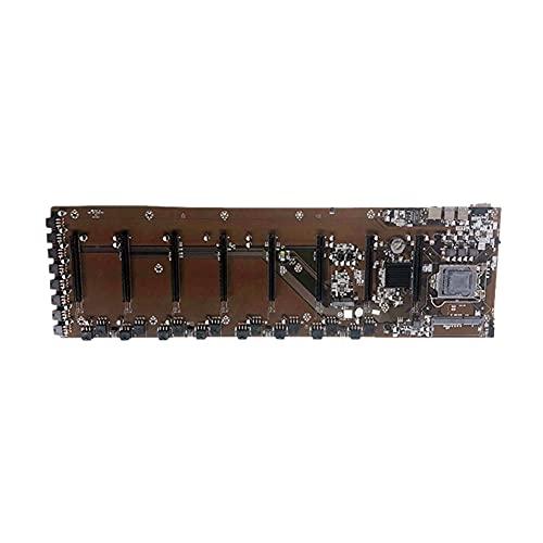 BoBoLily Placa base Amd, placa base AM4, B85 1150 Pin 4 USB3.0 LAN DDR3 8 PCIE 16X GPU placa base para BTC Mining