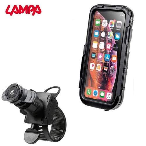 SUPPORTO PORTA SMARTPHONE CELLULARE TELEFONO IMPERMEABILE MOTO SCOOTER COMPATIBILE CON ECOMISSION ATTACCO MANUBRIO ORIENTABILE IPHONE XS MAX BORSA CUSTODIA NAVIGATORE