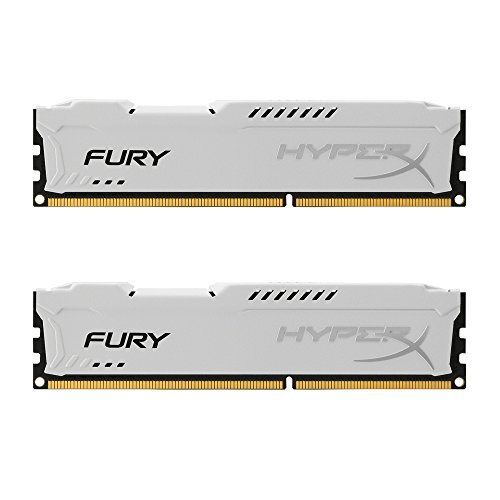 Kingston HX316C10FWK2/16 HyperX Fury werkgeheugen (1600MHz, CL10) DDR3-RAM kit 16GB Kit wit