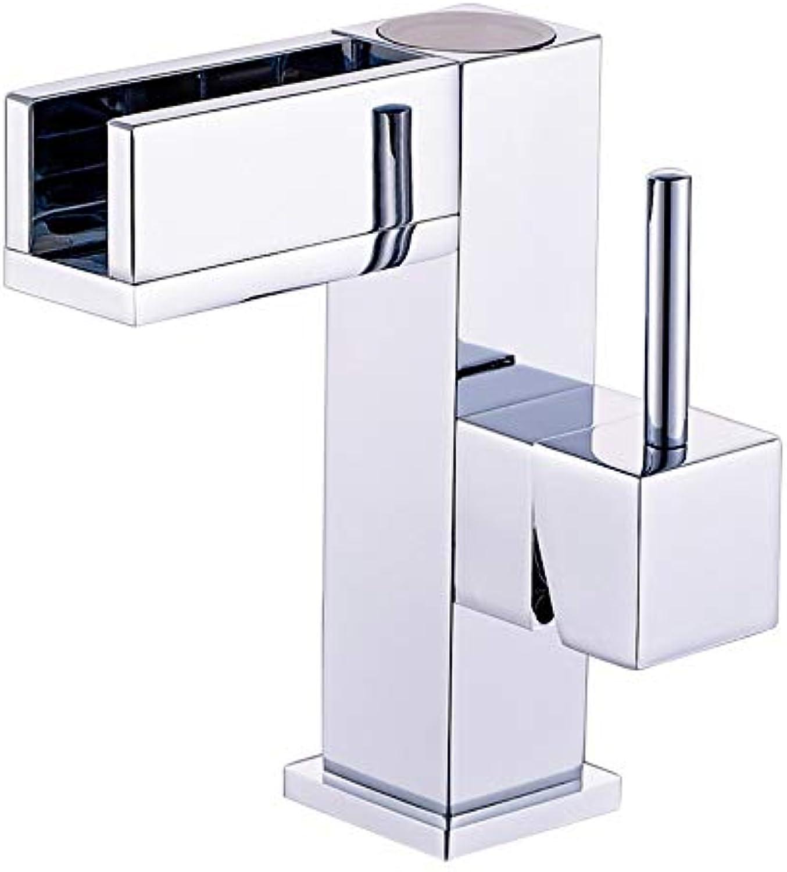 Alle Kupfer-Led-Bad Becken Temperaturregelung Drei Farben Wasserhahn Bad Eitelkeit Becken Heien Und Kalten Wasserhahn