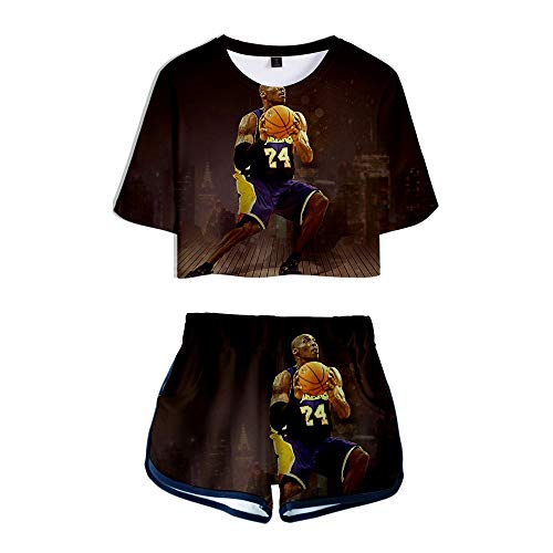 Kobe Bryant 3D geprint sexy zomer korte mouwen en korte broek passen casual sportswear