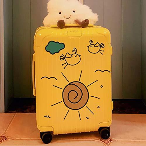 YUHANG Cartoon cute suitcase stickers waterproof suitcase trolley car wall desktop transparent decorative stickers