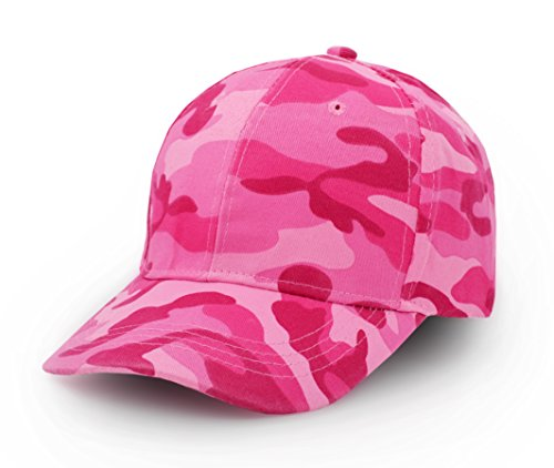 UltraKey Mens Womens Army Military Camo Cap Baseball Casquette Camouflage Hats for Hunting Fishing Outdoor Activities(Pink)