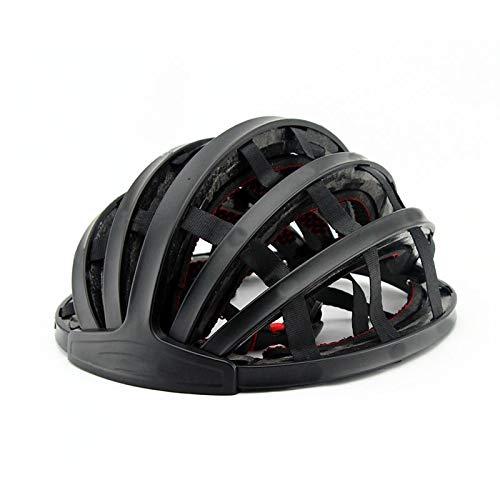 casco Casco da mountain bike Piegabile MTB Bicycle Helmet Bike Folding Helmet Ultralight Unisex Cycling Helmets Road Man Women black