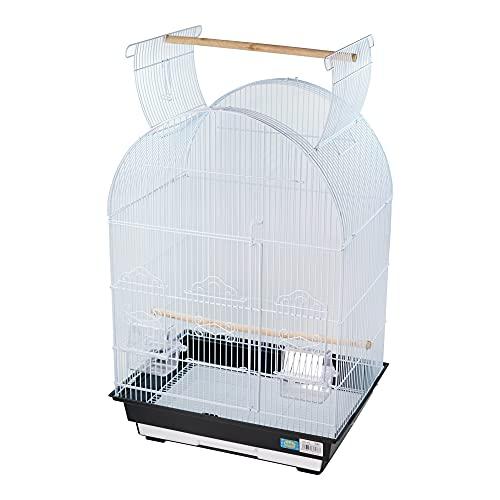DZL- Jaula para Pájaros Jaula Pajaro con Comedero Palos 46.5 * 36 * 77.5cm Jaula de pájaros con Puerta Grande (Color Aleatorio)