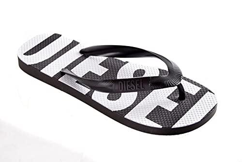 Diesel Chanclas Sa-briian W-sandals para mujer (Black/White, numeric_36)