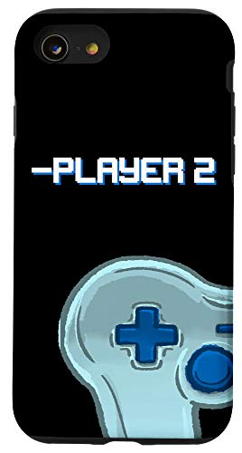 iPhone SE (2020) / 7 / 8 Player Two Matching Controller Video Game Best Friend Gift Case