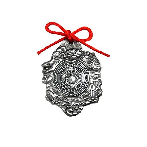 Treasure Gurus Metal US Marine Corps Seal Christmas Tree Ornament USMC Military Xmas Gift Topper