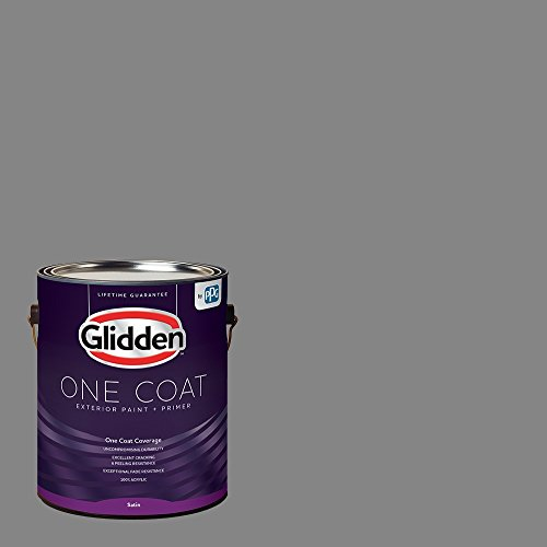 Glidden Exterior Paint + Primer: Gray/Dover Gray, One Coat, Semi-Gloss, 1-Gallon
