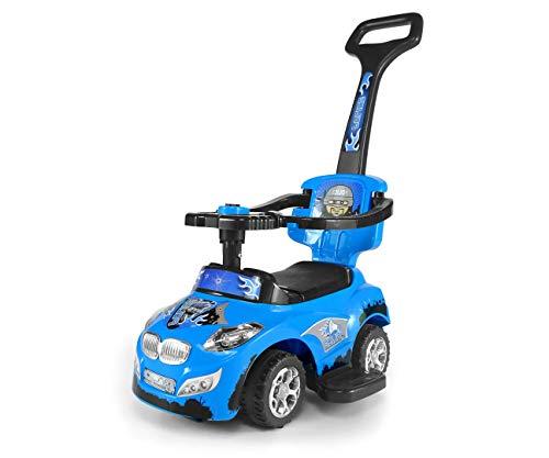 Jeździk chodzik autko 3w1 Milly Mally Happy niebieski