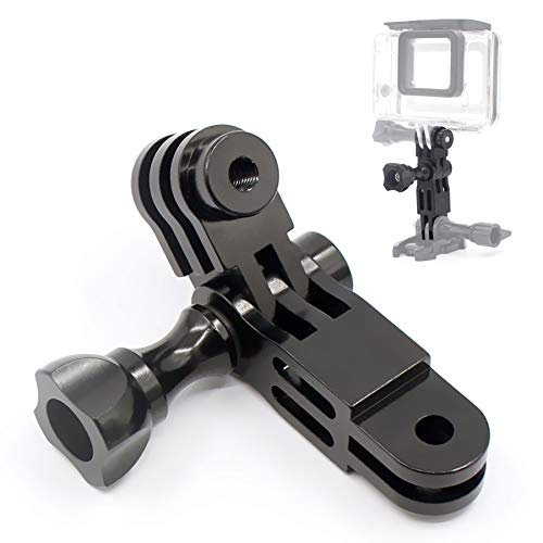 Liveda 360 Degree Swivel Arm Adapter, Aluminum Alloy Three-Way Adjusting Arm Adapter Bracket, Sports Camera Photography Accessories for GoPro Series/Xiao Yi/Sony/SJcam/AEE