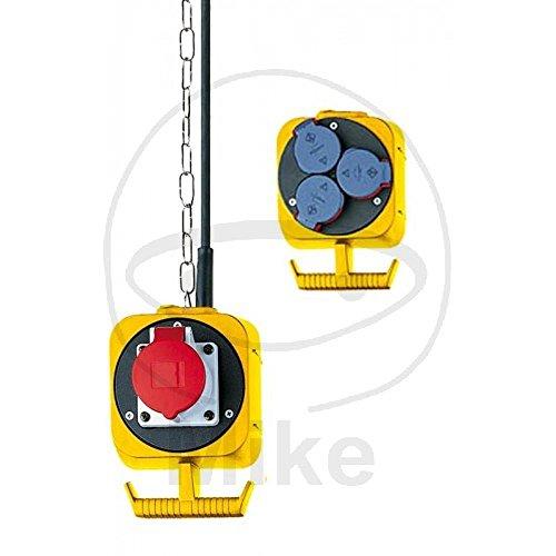Brennenstuhl CEE slinger stroomverdeler IP44 / hangverdeler (voor binnen en buiten, 3x Schuko-stopcontacten, 1x CEE-stopcontact)