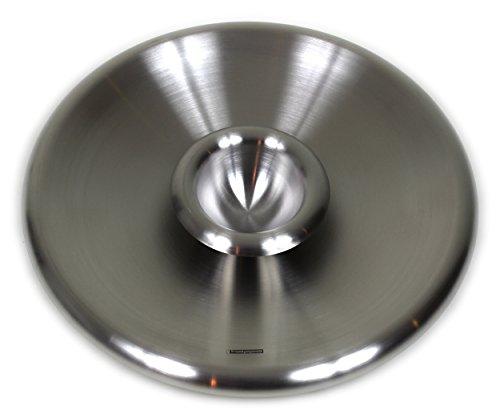 Design Edelstahlschale - Chip and Dip / 31 cm / Snackschale mit Dip Behälter