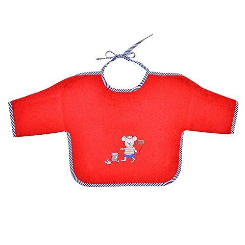 Wörner Südfrottier Pyjama 2 pièces pour bébé garçon - Motif souris de marinière - Rouge - Rouge - Small