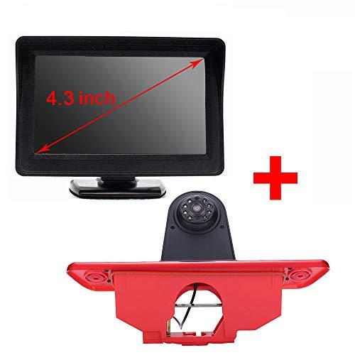 12 mm lens CMOS achteruitrijcamera + 4,3 inch TFT LCD-scherm auto monitor 〗remlicht auto dak achteruitrijcamera voor Peugeot Expert/FIAT Scudo/Citroen Jumpy 2007 – 2016.