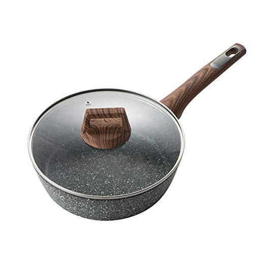 JX-PEP Non-Stick Bratpfanne, Kochtopf, Bratpfanne, Suppentopf, Induktions-Herd, Gasherd, Aluminium mit Easy Clean,26cm
