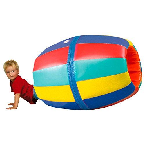 Spieltonne Kriechtunnel Kinder-Spieltunnel Kinder Tonne Krabbelspiel 70x100 cm