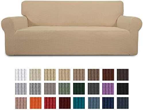 Best Easy-Going Stretch Sofa Slipcover 1-Piece Sofa Cover Furniture Protector Couch Soft with Elastic Bot