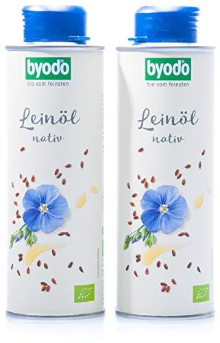 Byodo Natives Leinöl, 2er Pack (2 x 250 ml Dose) - Bio