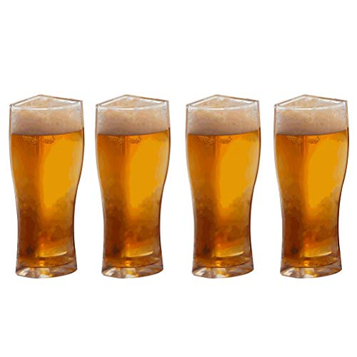 Gazaar Vasos de cerveza, Super Schooner de vidrio creativo, divertido, juego de tazas de cerveza, taza de cerveza, taza de cerveza 4 en 1, taza de cerveza de acrílico para vino y agua utilizada