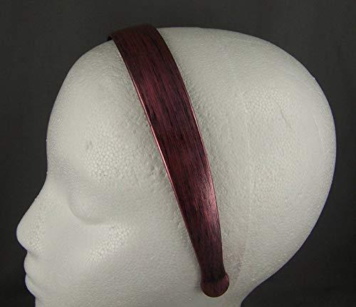 Copper Black Brush Stroke Plastic 1 Inch Wide Headband Hair Band Accessory Teeth Headbands for Women