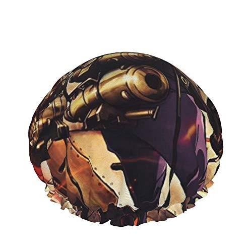 Kabaneri Of The Iron Fortress Gorro de ducha Gorro de baño impermeable de doble capa para mujer Gorro de baño Turbante Sauna