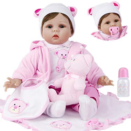 ZIYIUI Realista 55cm Muñecos Bebé Reborn Niña Silicona Muñeca Reborn Babys Chica Hecha a Mano Recién Nacido 22 Pulgadas Niños Juguete Barato Regalo