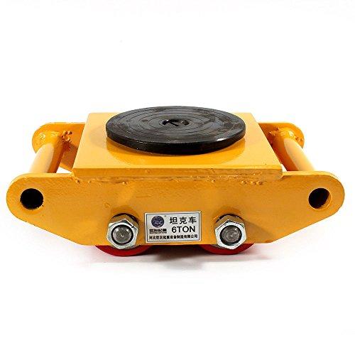 Hansemay Pro-Lift - Carrello per il trasporto di mobili con 360 tappi rotanti (giallo)