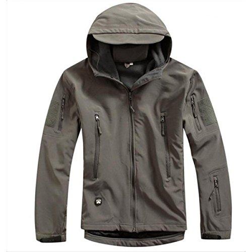 Taille L Gris Couleur Outerdoor Chasse Randonnée Escalade Camp Airsoft survie Hoodie de veste de manteau