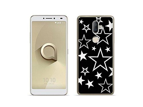 etuo Handyhülle für Alcatel 3V - Hülle Fantastic Hülle - Sterne - Handyhülle Schutzhülle Etui Hülle Cover Tasche für Handy